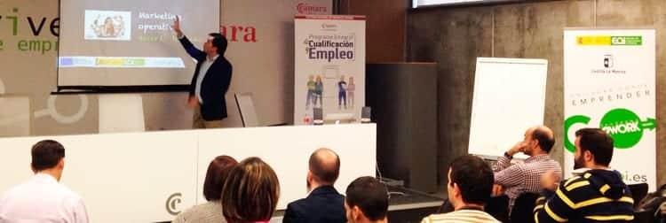 Toño Antonio Constantino taller Coworking EOI en Toledo. Herramientas de Marketing para emprendedores