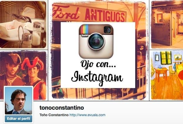 Perfil de Instagram de Toño Antonio Constantino